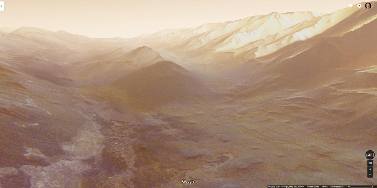 火星の渓谷