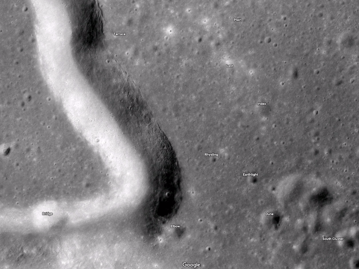 アポロ15号の着陸地点