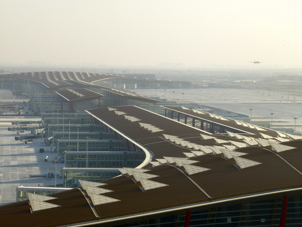 上空から見た空港