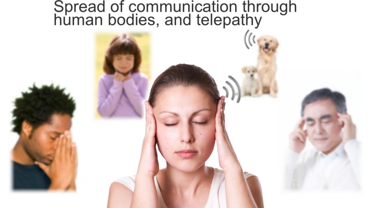 体を通信媒体にして、テレパシーのように通信する。