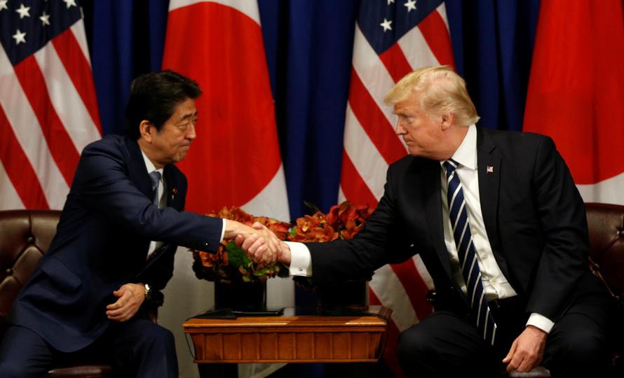 安倍晋三首相とドナルド・トランプ大統領