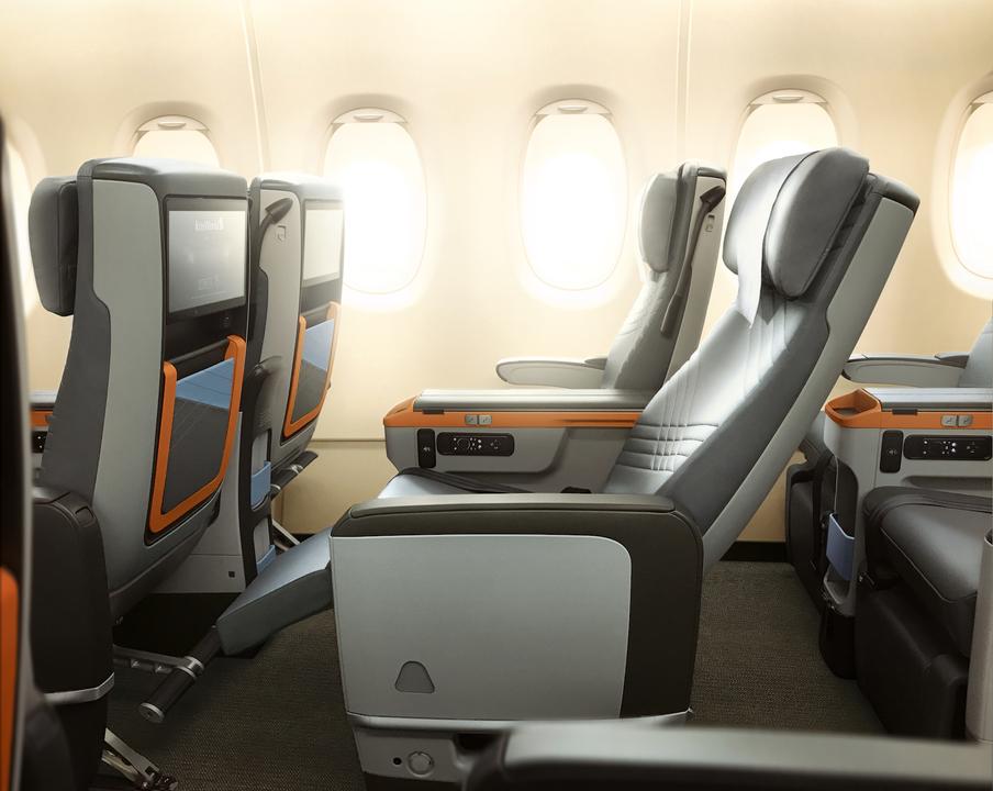 premium economy seatsのリクライニング