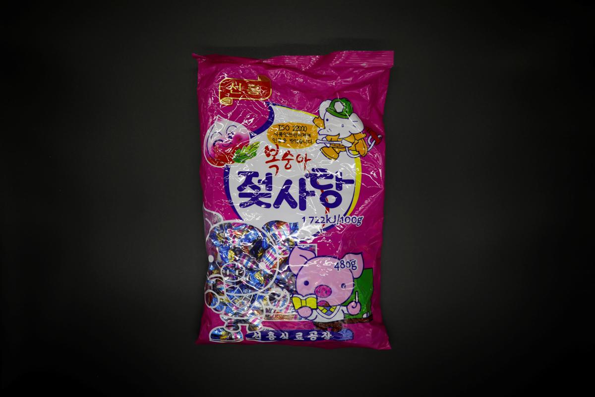 北朝鮮のピーチ・ミルクキャンディー