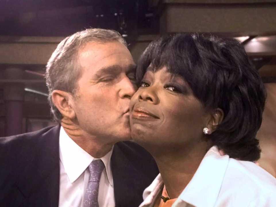 オプラ・ウィンフリーさんにキス