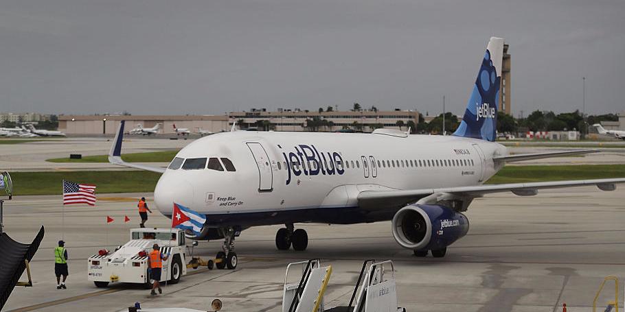 ジェットブルー航空の旅客機