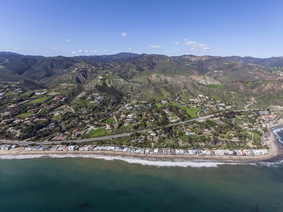 海岸線の航空写真