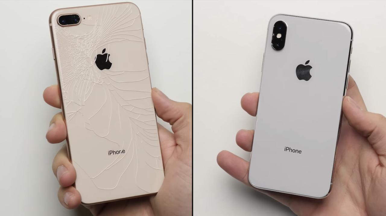 iPhone 8 Plusはバキバキに