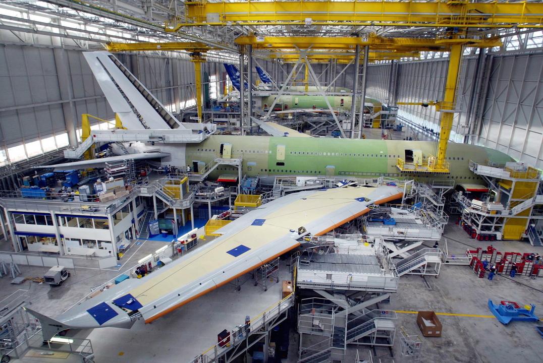 A380の製造風景