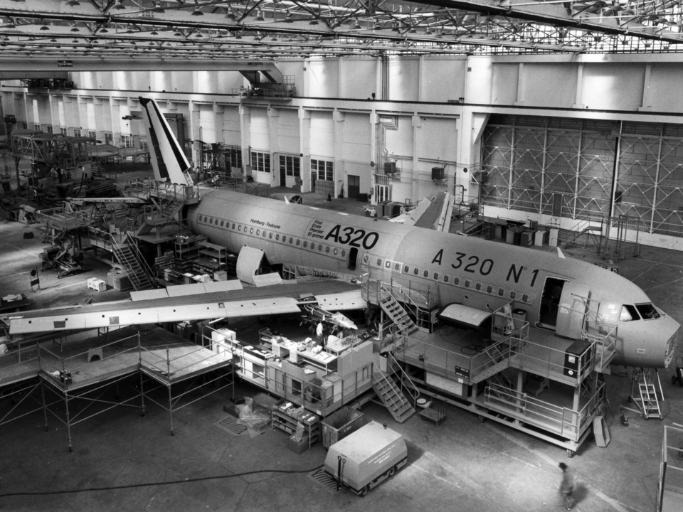 A320の製造風景