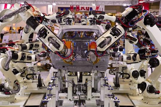 川崎重工の産業用ロボット