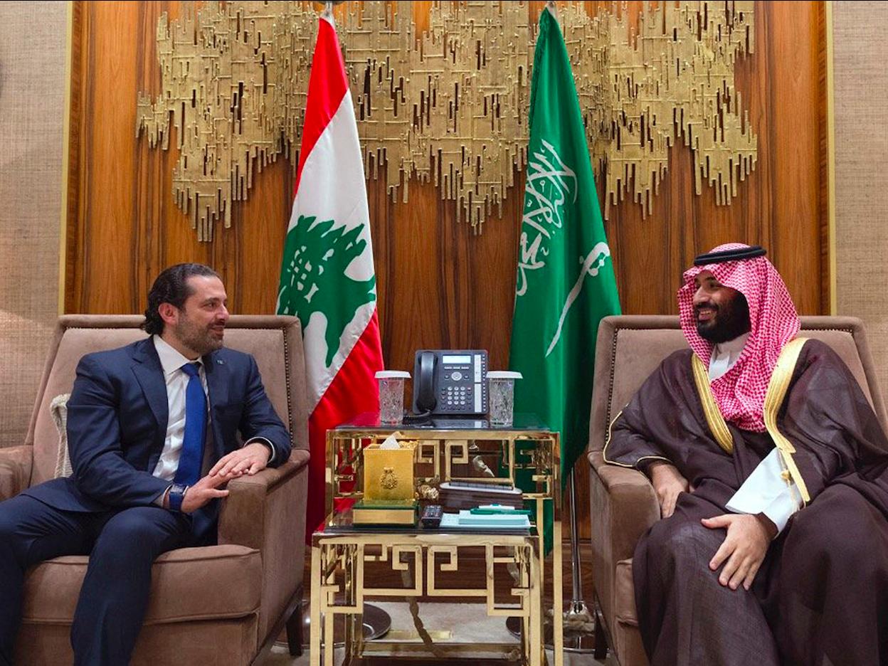 ハリリ首相とムハンマド皇太子