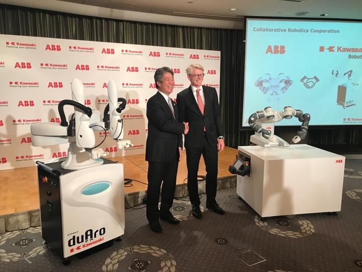 ABBと川崎重工の記者発表会