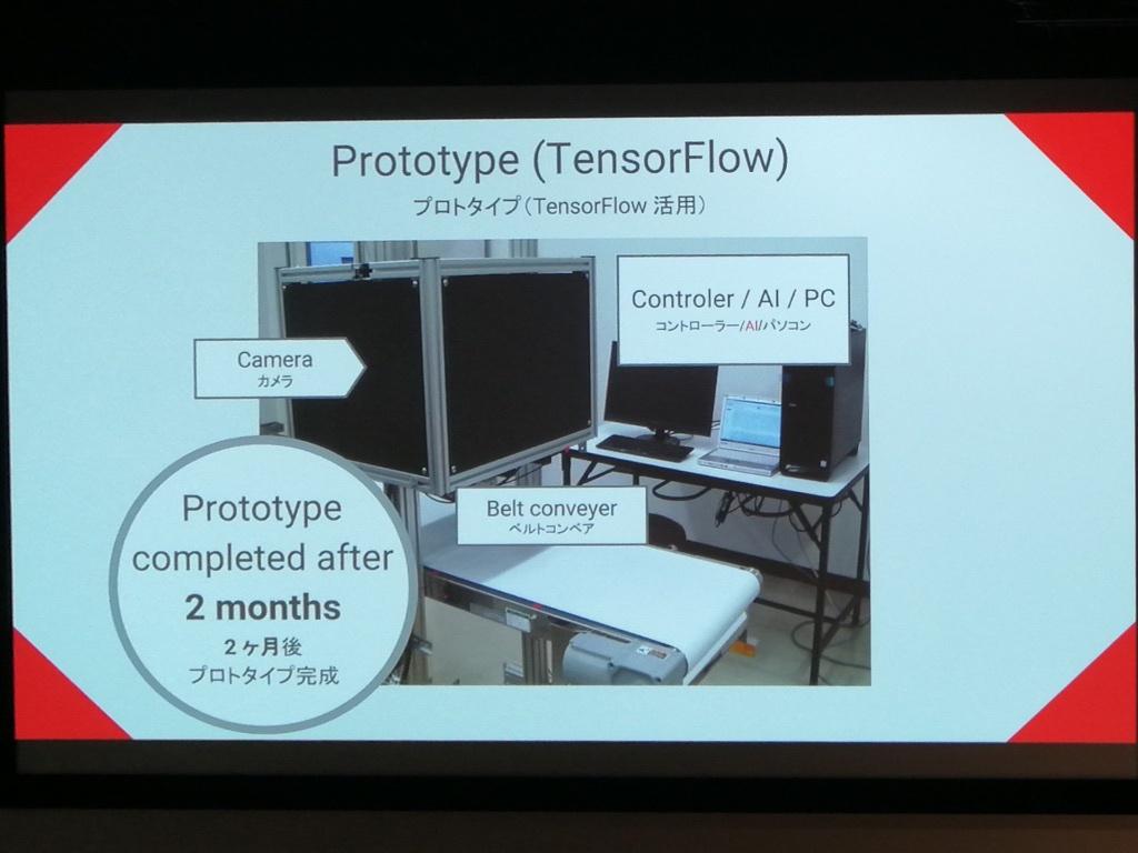 キユーピーらがつくったAI原料検査装置のプロトタイプ