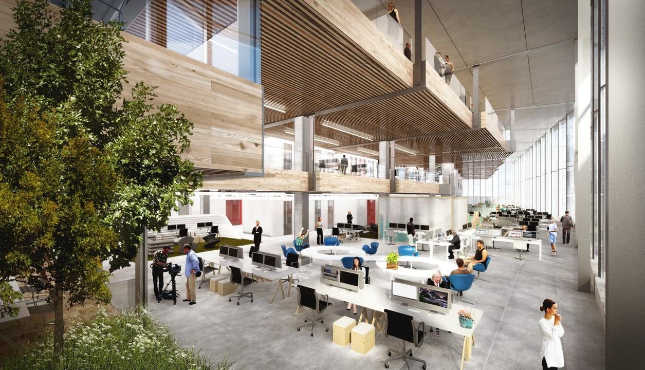 グーグルの新ロンドン本社の完成予想図。