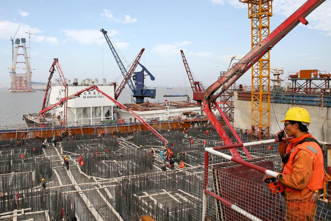 中国の工事現場