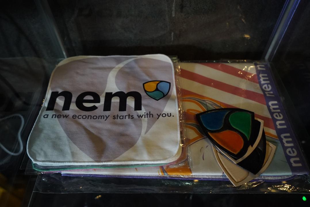 NEM barに飾られていたNEMグッズ