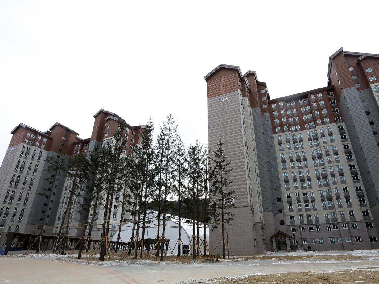 平昌オリンピック選手村の風景