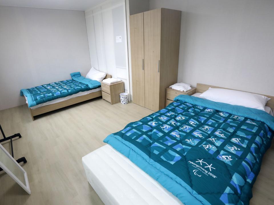 平昌オリンピック選手村の部屋