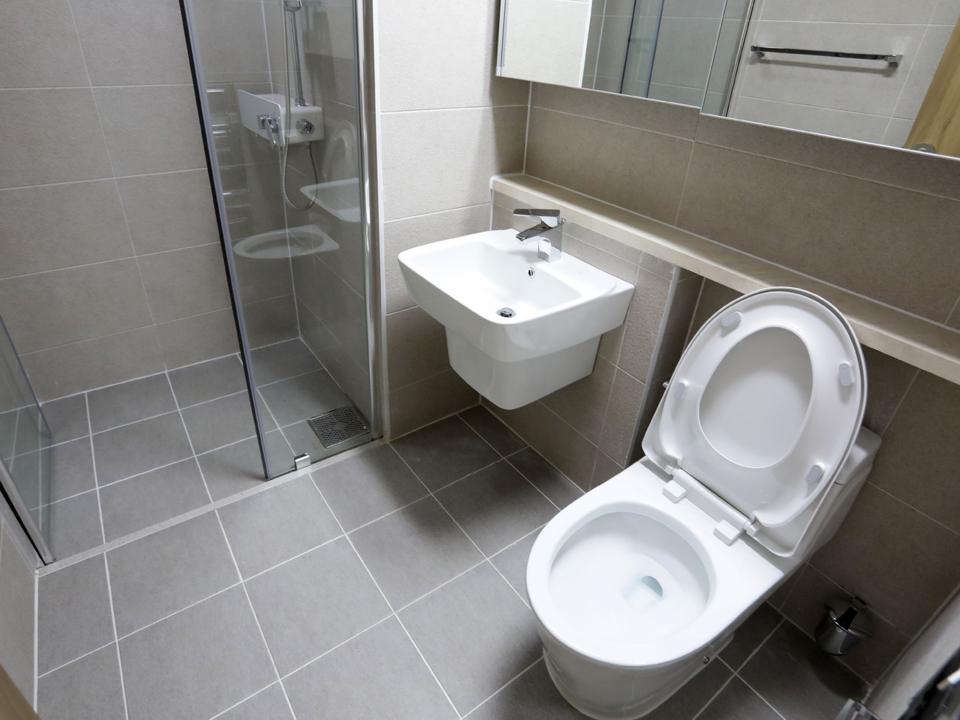 平昌オリンピック選手村の浴室
