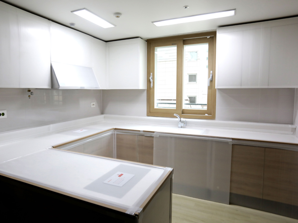 平昌オリンピック選手村のキッチン