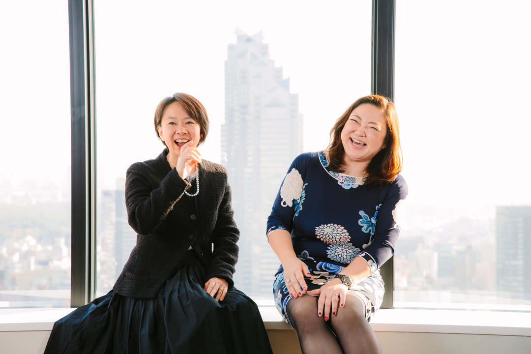 岡島悦子さんと篠田真貴子さん
