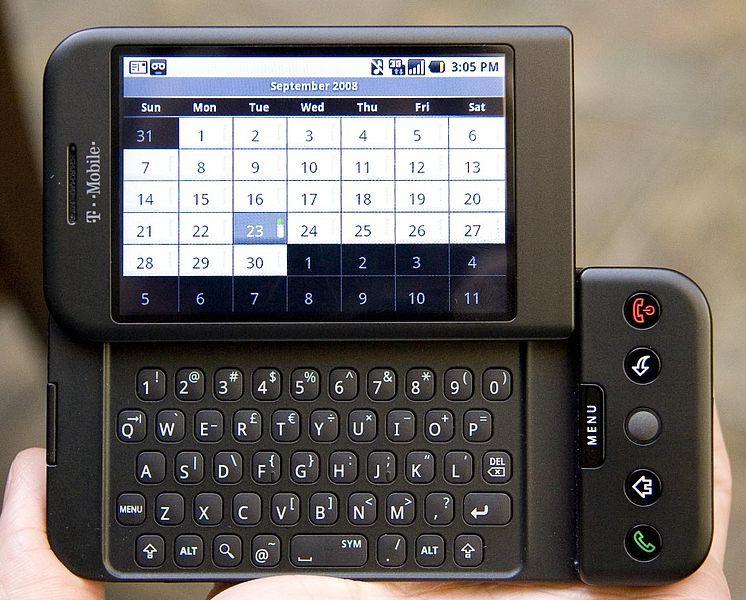 初期のアンドロイド携帯