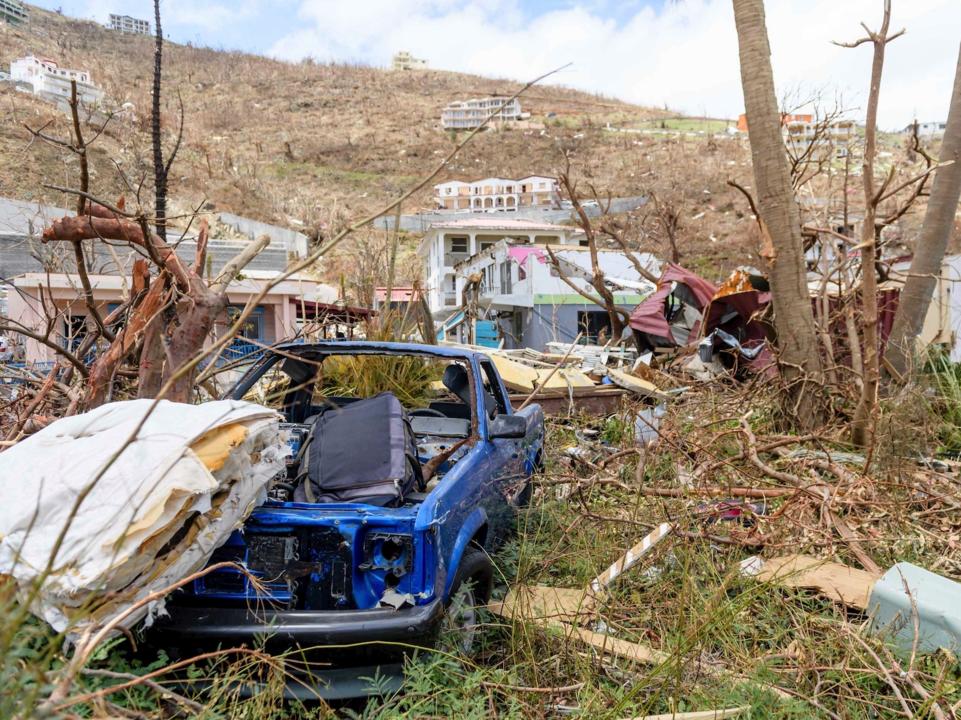 イギリス領ヴァージン諸島を襲ったハリケーン「イルマ」の爪痕