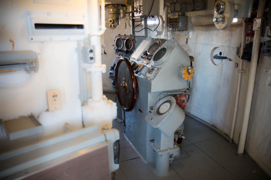 艦橋の操舵装置