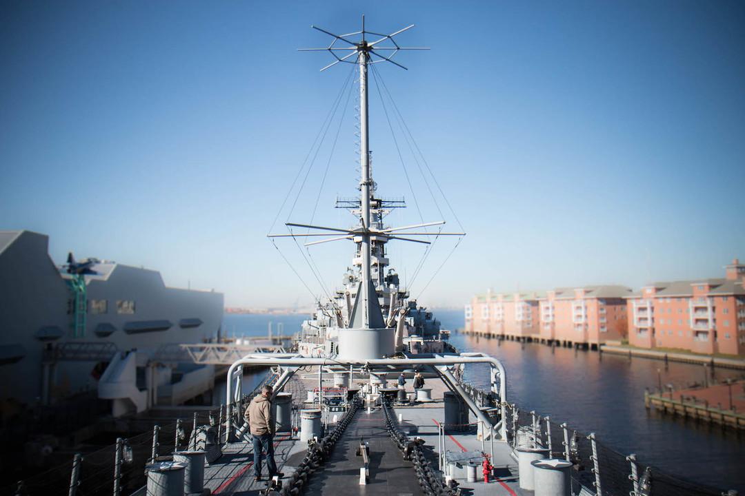 艦首からの写真。
