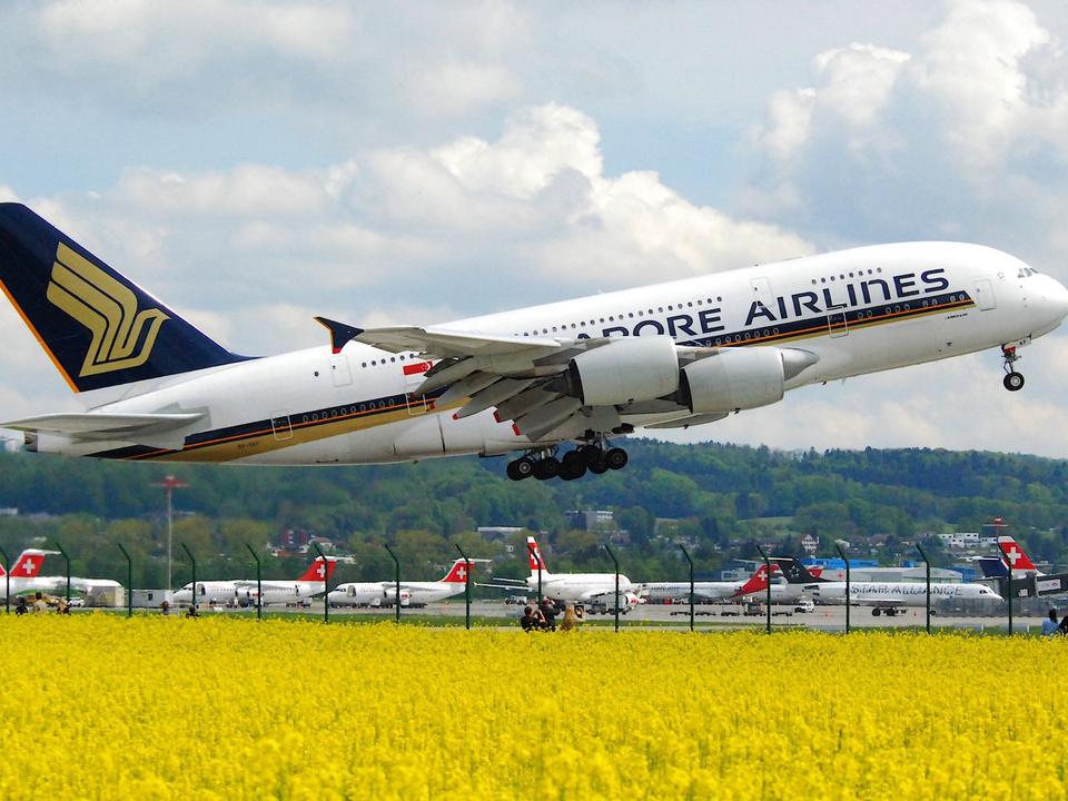 シンガポール航空の旅客機