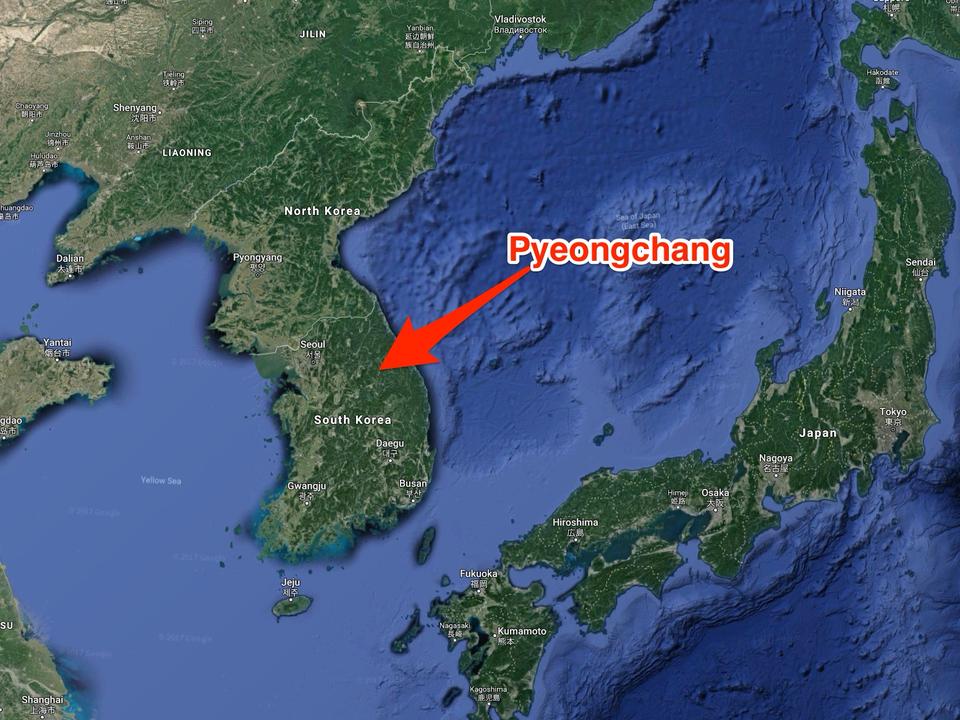 韓国・平昌の位置