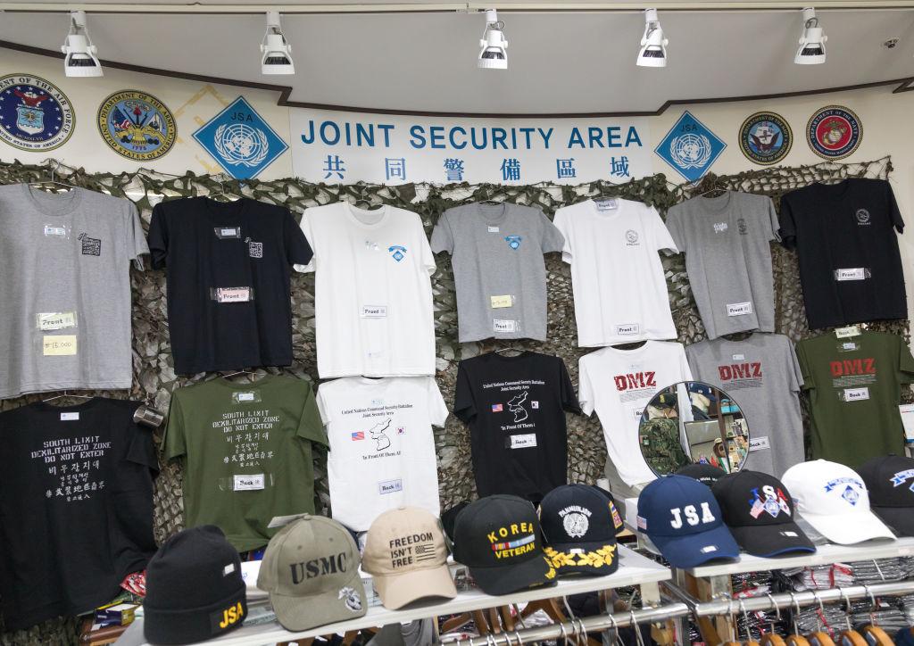土産物の販売コーナー