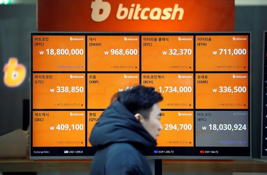 仮想通貨の電光掲示板