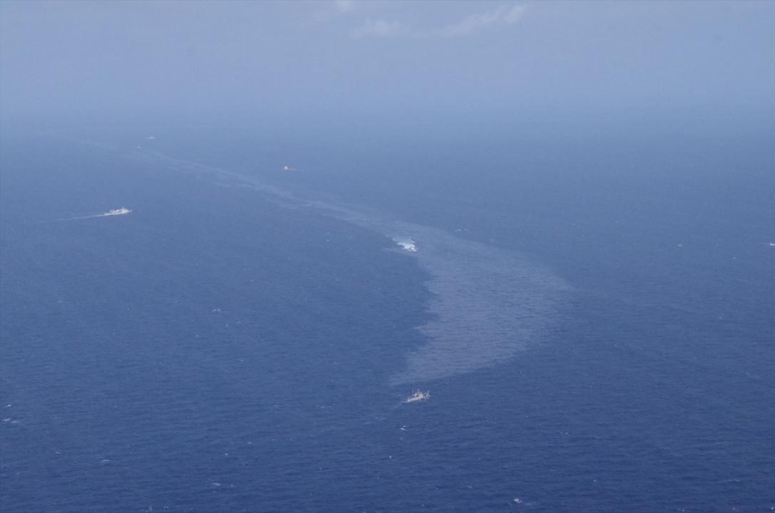 3隻の救助船が活動