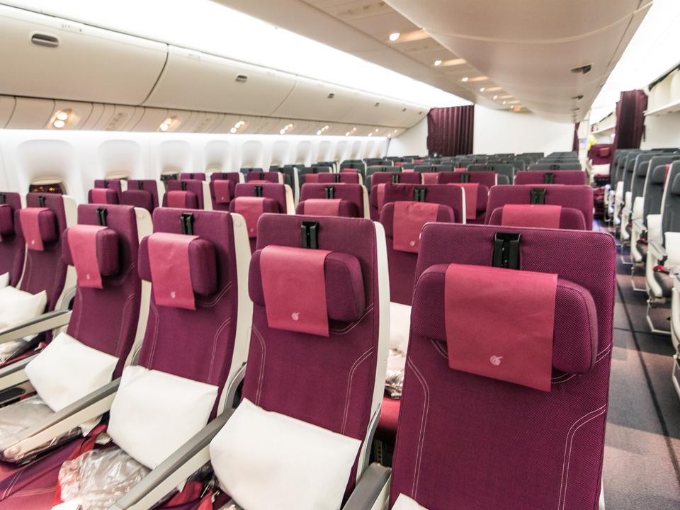 カタール航空のエコノミークラス