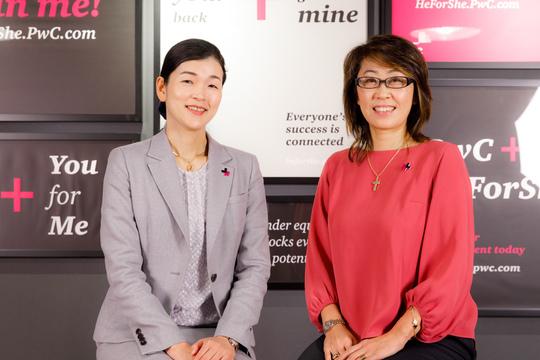 PwC梅木典子さんとユニリーバ島田由香さん。