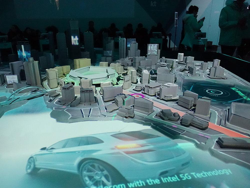 KT 5G 自動運転のデモ