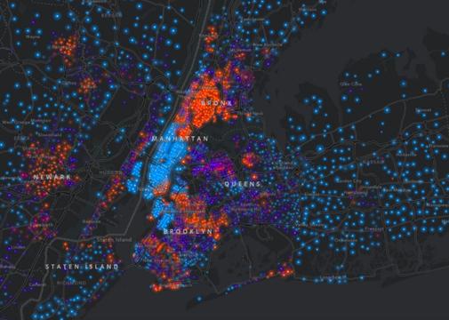 地図で見るアメリカの所得格差 —— 大都市圏への富の集中が進む