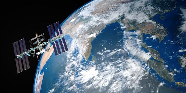 国際宇宙ステーションの写真