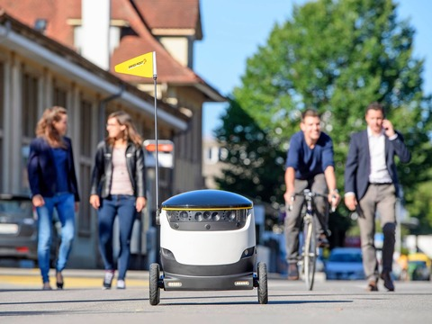 スターシップ・テクノロジーズのデリバリーロボット