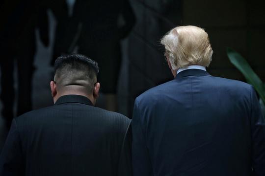 トランプ大統領と北朝鮮の金正恩委員長