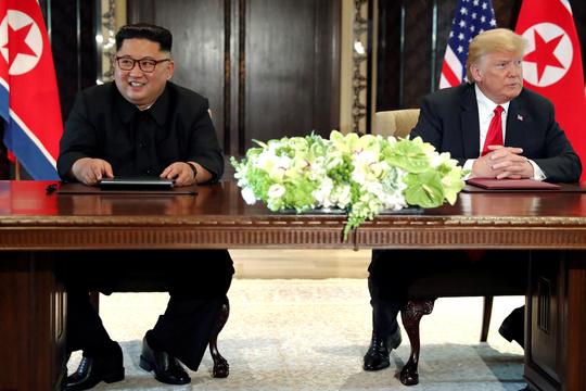 トランプ米大統領と金正恩委員長