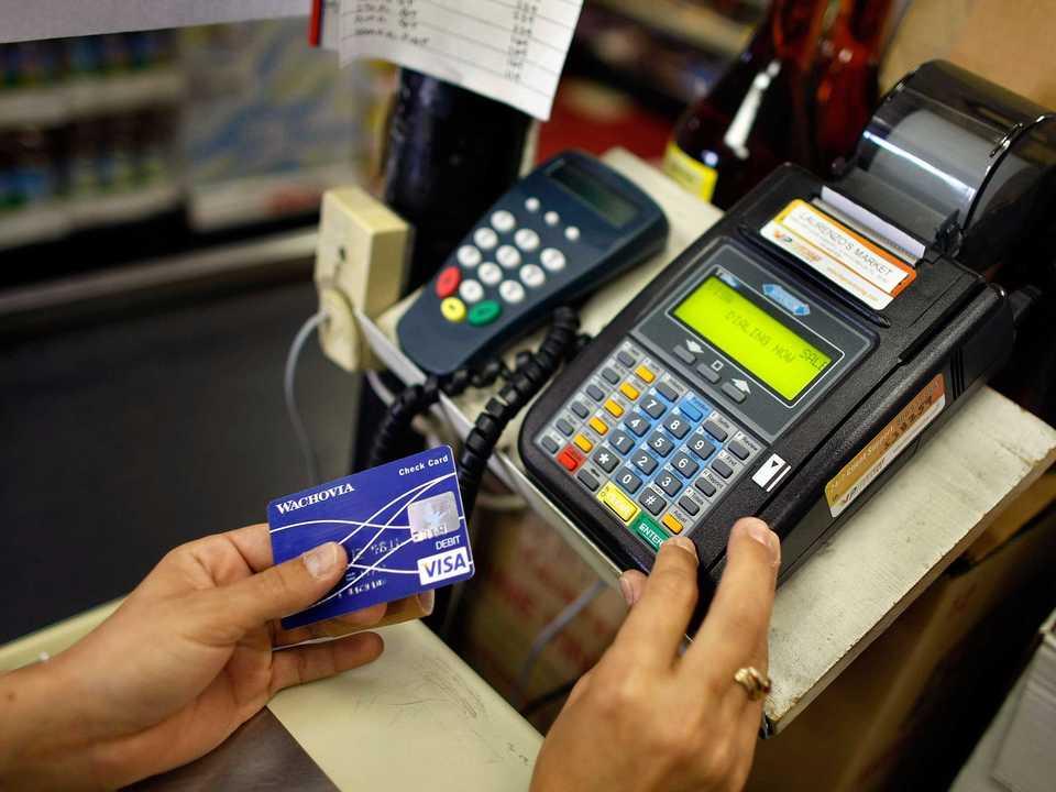 クレジットカードでの会計