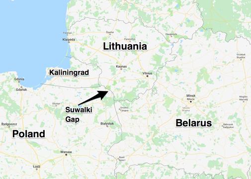 ポーランドとリトアニアに挟まれたカリーニングラード州