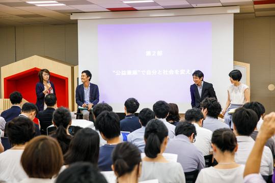 左から、島田由香さん、伊藤禎則さん、小沼大地さん、松尾真奈さん。