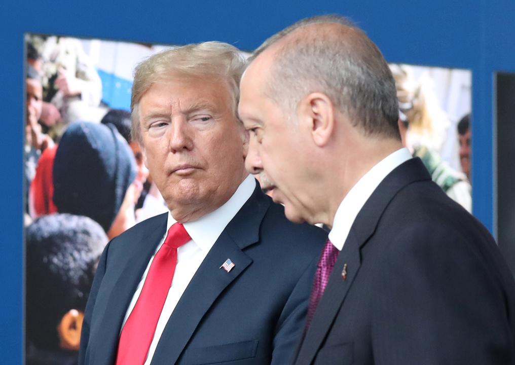 トランプ米大統領とトルコのエルドアン大統領