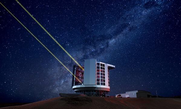 巨大マゼラン望遠鏡の完成予定図