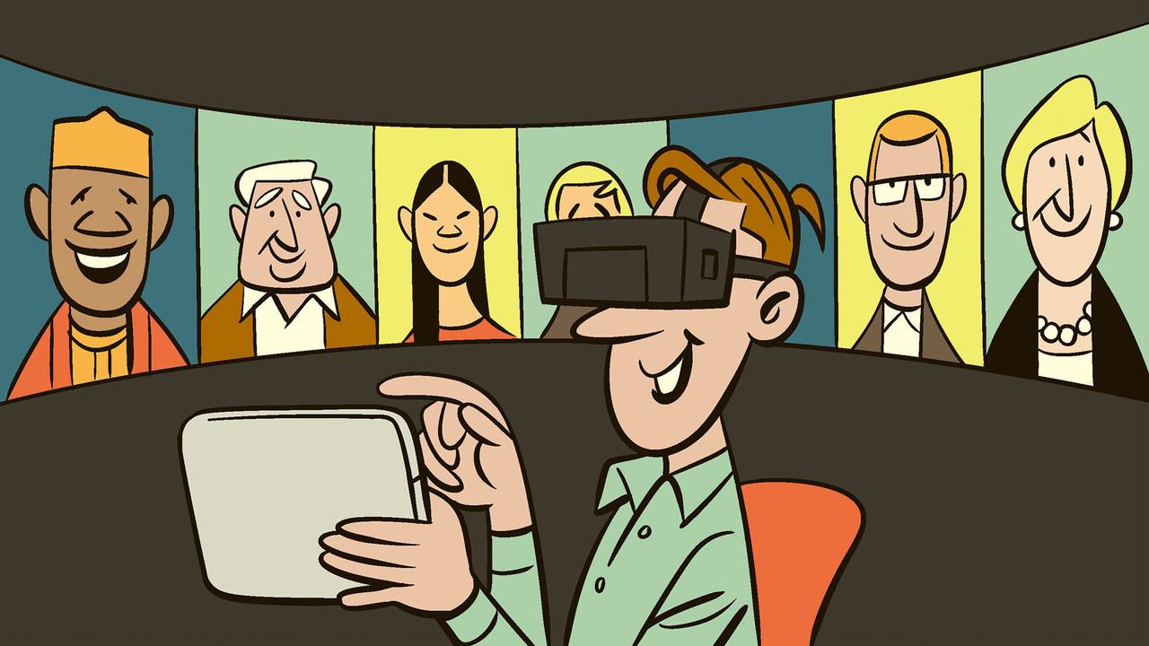 VRで会議