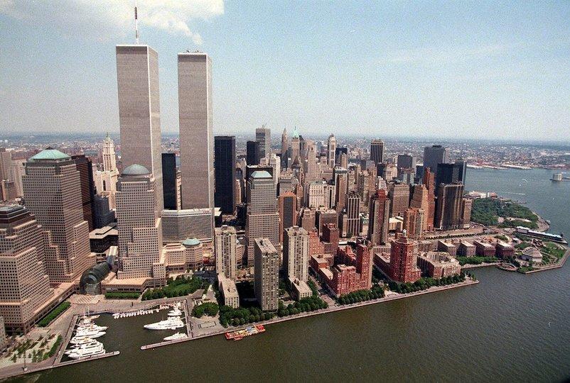 同時多発テロ:テロの前の世界貿易センタービル