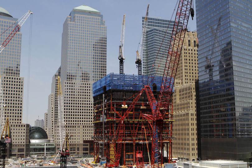 同時多発テロ:ワンワールドトレードセンターの建設風景